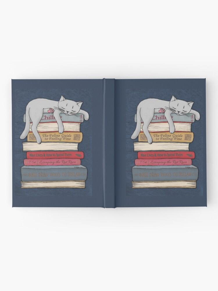 Alternate view of How to Chill Like a Cat Hardcover Journal