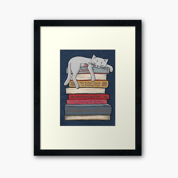 How to Chill Like a Cat Framed Art Print