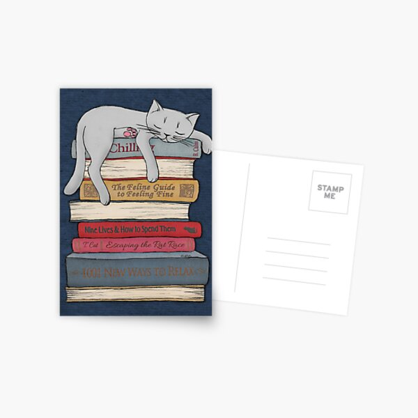 Wie man wie eine Katze chillt Postkarte