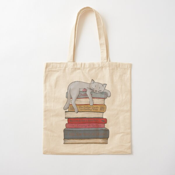 How to Chill Like a Cat Cotton Tote Bag