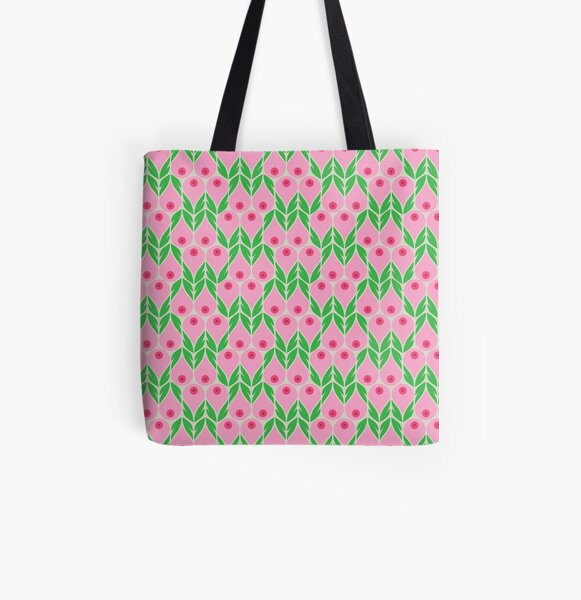 Forget Me Not All Over Print Tote Bag