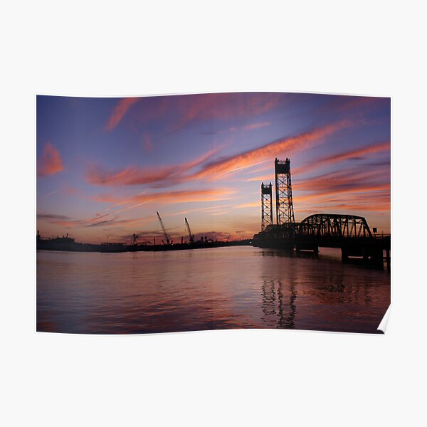 Jordan Bridge Sunset Poster