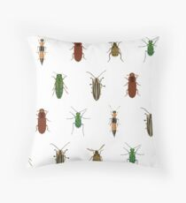 Four Beetles Throw Pillow