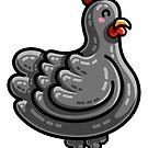 Kawaii Cute Chicken by Fiona Reeves