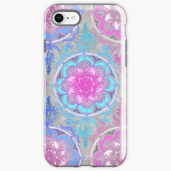 Pink, Purple and Turquoise Super Boho Medallions iPhone Tough Case