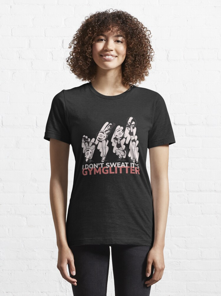 Alternate view of I Don't Sweat It's Gymglitter - Woman Weightlifting Essential T-Shirt