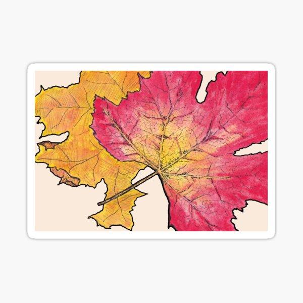 Autumn Leaves Design - Horizontal Sticker