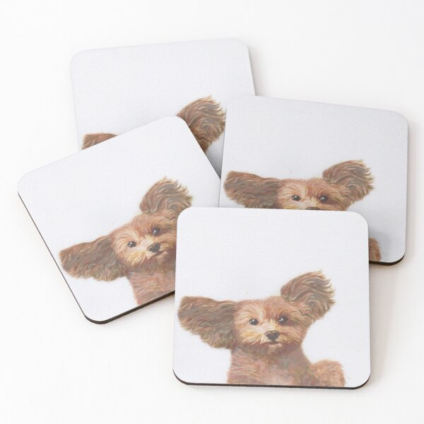 Paint me like one of your French dogs - Cavoodle - Cavalier Poodle Coasters (Set of 4)