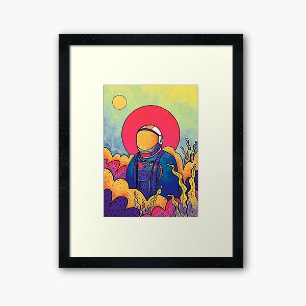 The planet explorer Framed Art Print