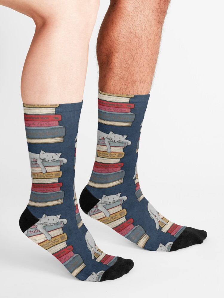 Alternate view of How to Chill Like a Cat Socks