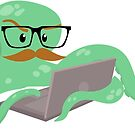 The Mustachioed Internet Octopus by Veronica Guzzardi