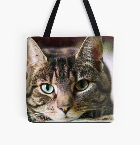Tabby Cat Digital Art Cat Photography All Over Print Tote Bag