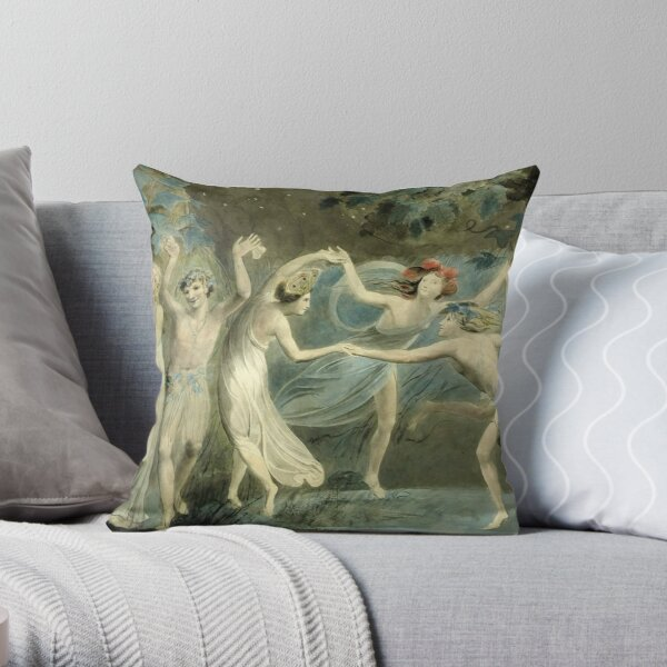 BLAKE. Oberon, Titania and Puck with Fairies Dancing. William Shakespeare, A Midsummer Night's Dream. Throw Pillow