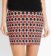 Red and black ten pin bowling pin pattern Mini Skirt
