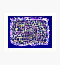 Blue Network Art Print