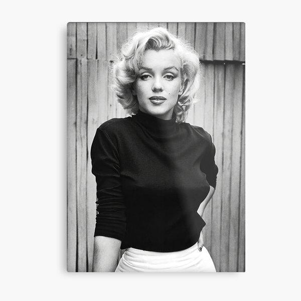 Marilynn Monroe Black and White Portrait Metal Print