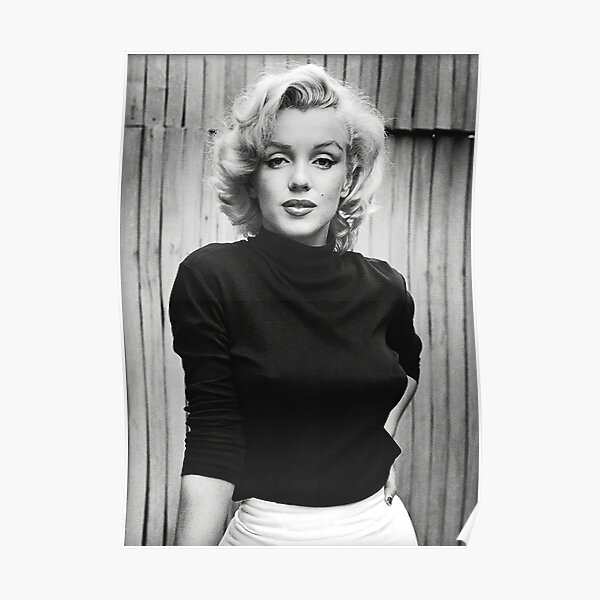 Marilynn Monroe Portrait noir et blanc Poster