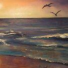 The Rip - Moana Beach in South Australia by Cheryl White