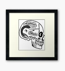 Navy AD - Day of the Dead Black and White Framed Print