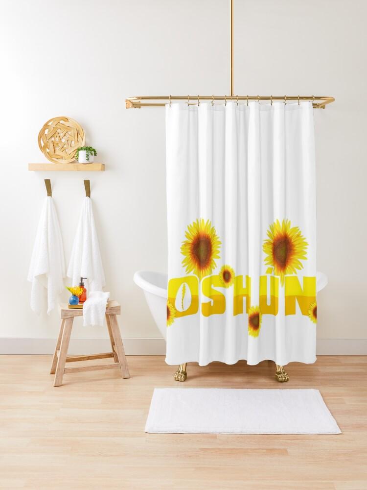 orisha oshun and sunflowers shower curtain by stanneman redbubble