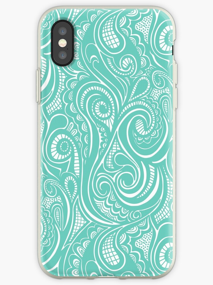 Swirly in Mint by CajaDesign