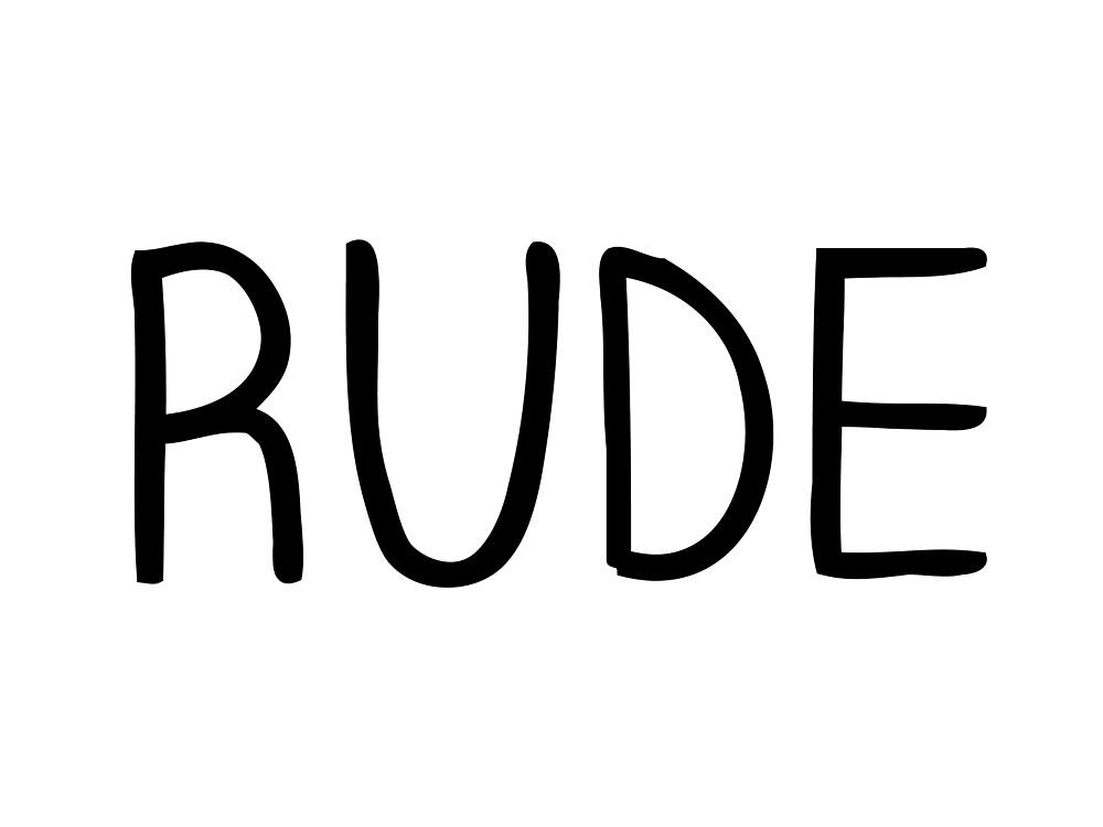 Rude - Sticker by sieger1996