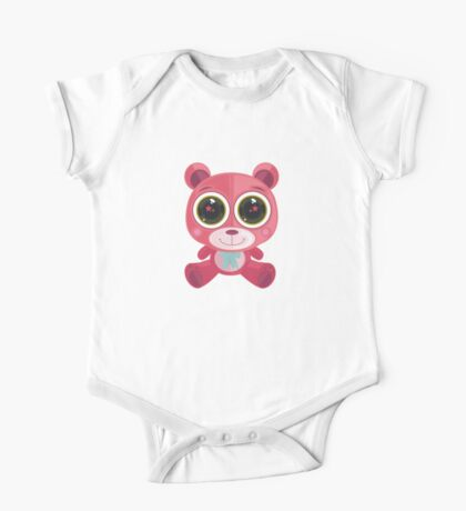Teddy Bear - Star Eye Pink Kids Clothes