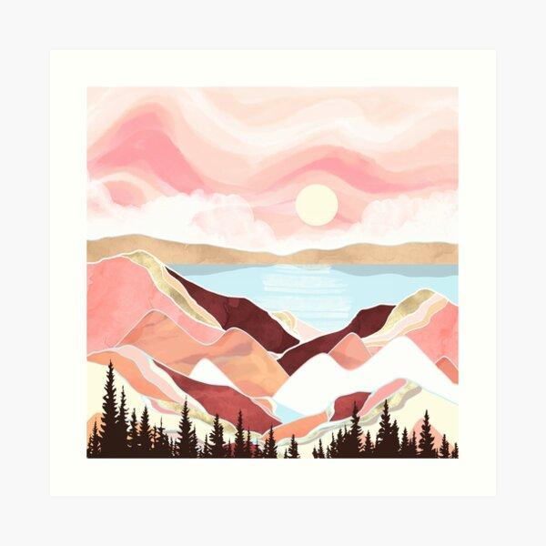Autumn Lake Sunrise Art Print