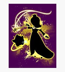 Super Smash Bros. Yellow/Gold Rosalina Silhouette Photographic Print