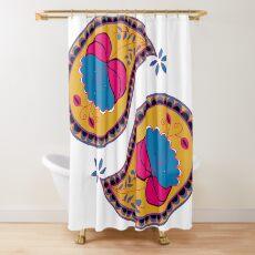 Modern Paisley Pattern Shower Curtain