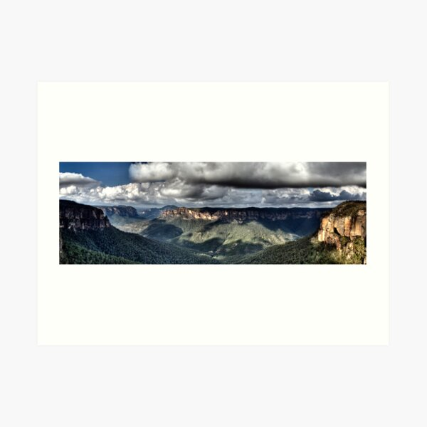 Grose Valley from Govetts Leap lookout Blue Mountains Art Print