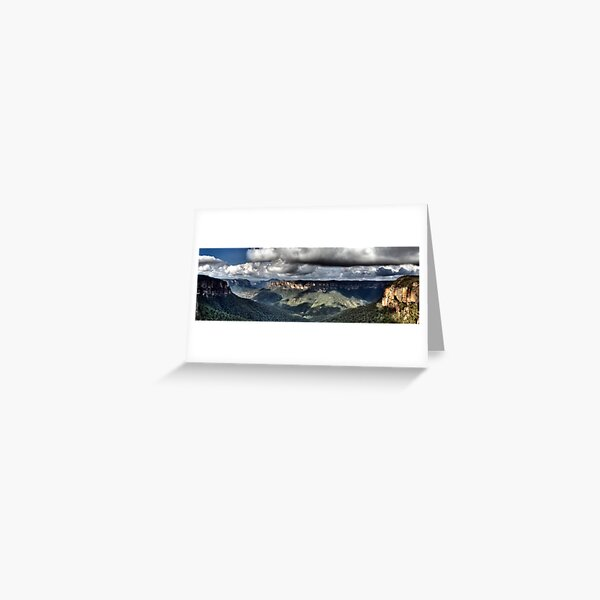 Grose Valley from Govetts Leap lookout Blue Mountains Greeting Card