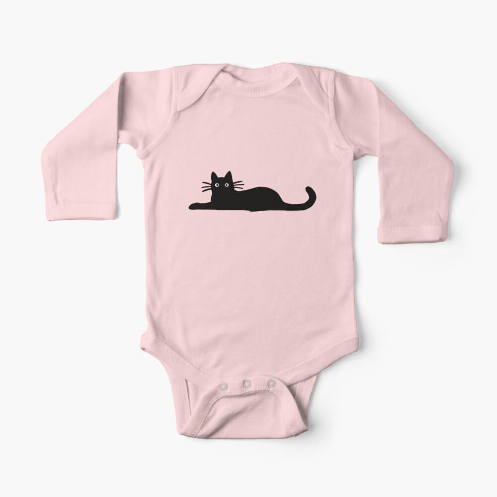 Black Cat Baby One-Piece