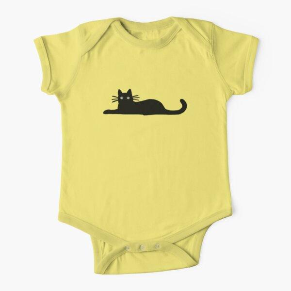 Black Cat Short Sleeve Baby One-Piece
