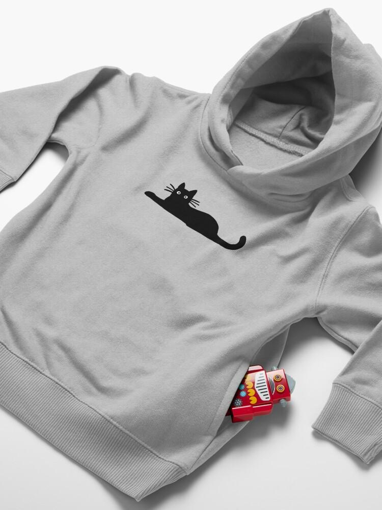 Alternate view of Black Cat Toddler Pullover Hoodie