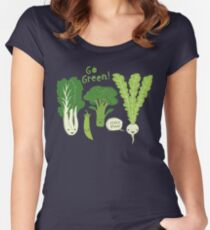 Go Green! (Leafy Green!) Women's Fitted Scoop T-Shirt