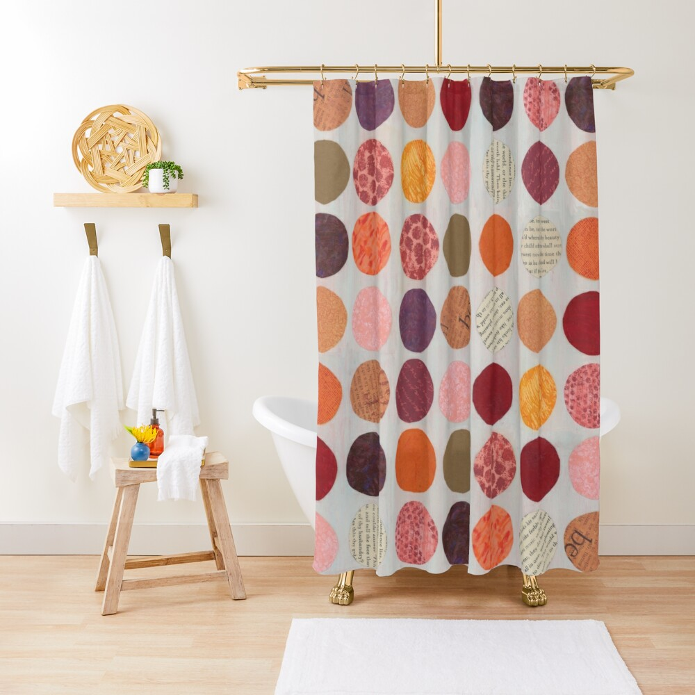 Curious Dots - Jewel Tone Shower Curtain