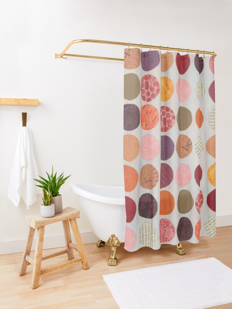 Alternate view of Curious Dots - Jewel Tone Shower Curtain