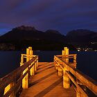 Late dusk on the jetty by Patrick Morand