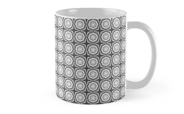 black white and gray hexagons many stars by Desenatorul1976