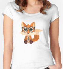 Fox Nerd Women's Fitted Scoop T-Shirt