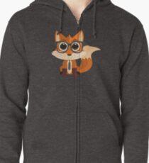 Fox Nerd Zipped Hoodie