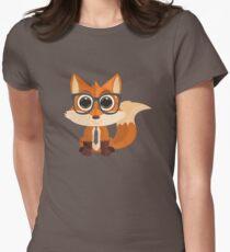 Fox Nerd Womens Fitted T-Shirt