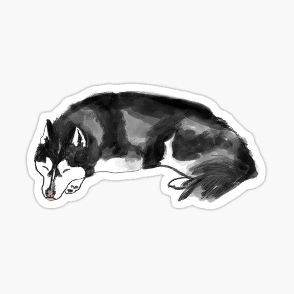 Sleeping husky  Sticker