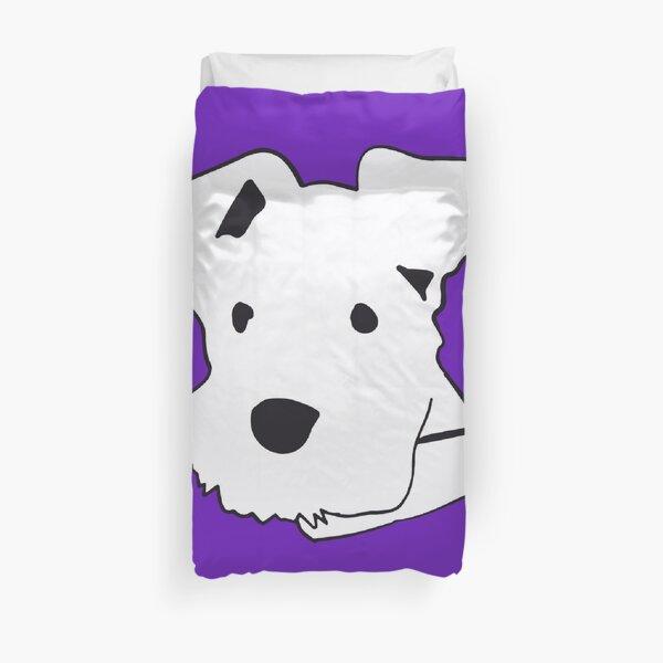 Purple Schnauzer  Duvet Cover