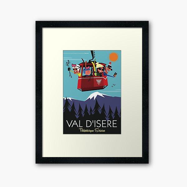 Val D'Isere poster Framed Art Print