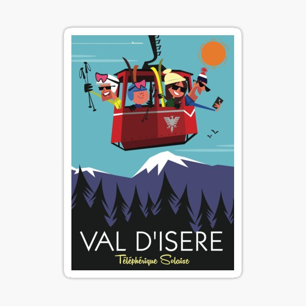 Val D'Isere poster Sticker