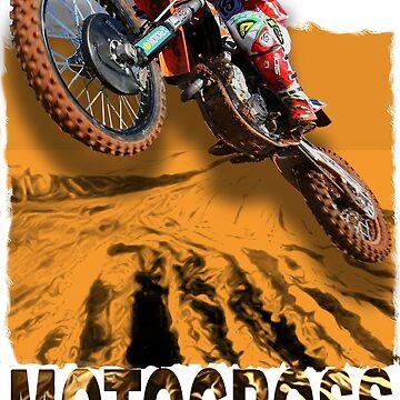 Motocross In Action 3D Art Design by dezing