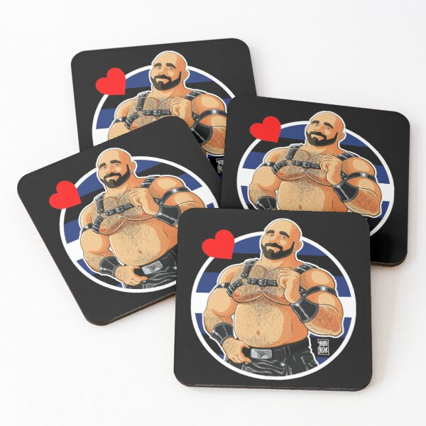 JIM LIKES LEATHER - DETAIL Coasters (Set of 4)