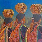 3 potters by Naquaiya